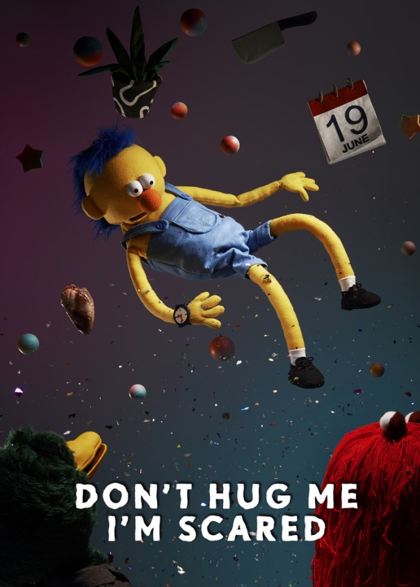 I seriously hope you don't hug him, he's scared.