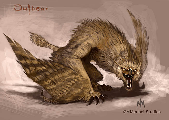 This awesome Owlbear imagining by Merissi Studios
