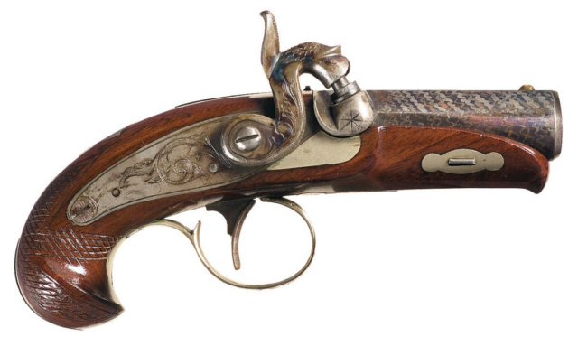 A Philadelphia Derringer. I admit - Before this interview, I hadn't seen one of these before!