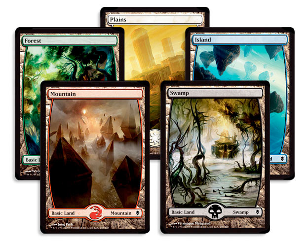These represent the 5 colours of magic in Magic: the Gathering