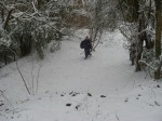 Louisa ready for battle in harsh, snowy conditions