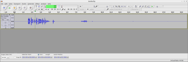 Editing in Audacity