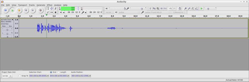 Editing in Audacity