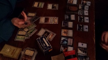 I got into a massive game of Magic: the Gathering. I won 2/3. Next time, I want perfect victories!