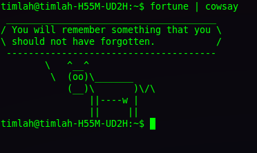 Cowsay Fortune