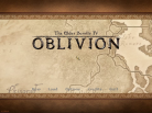 Oblivion greets you with a rather wonderful looking map motif.