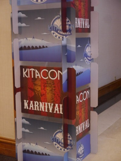 Beautifully designed sign posts at Kitacon this year!