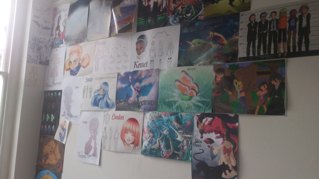 Some of the awesome artwork on the walls of the CrownRoot office.