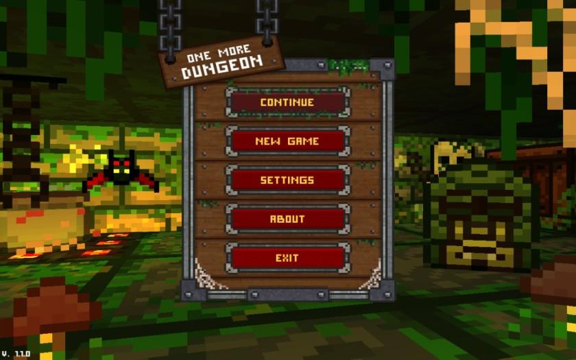 One More Dungeon Menu