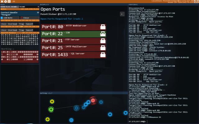 Hack progress