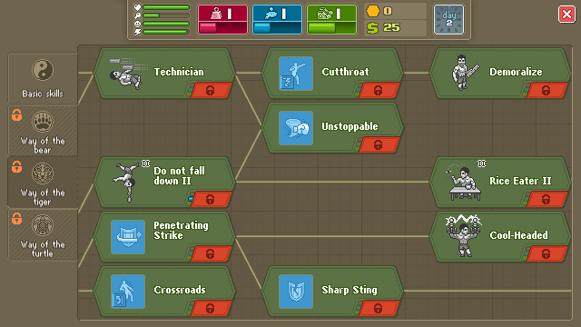 Punch Club Skill Tech Tree