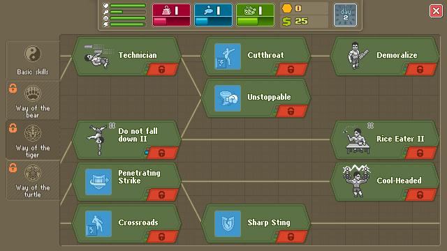 Punch Club Skill Tech Tree
