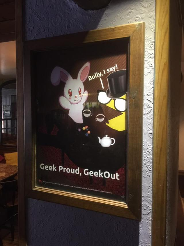The Old Market Tavern proudly displaying our posters