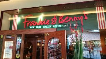We ate at Frankie & Bennies: Apt, as I was dressed as Mario.