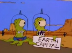 Kang_And_Kodos_Are_Newly_Weds_And_Are_Trying_To_Hitch_A_Lift_To_The_Earth_Capital