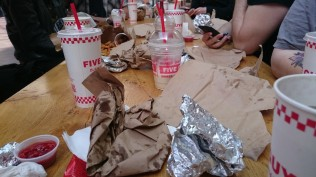 We ate at Five Guys this month for our pre-Meetup. Delicious!