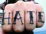 Hate tattoo