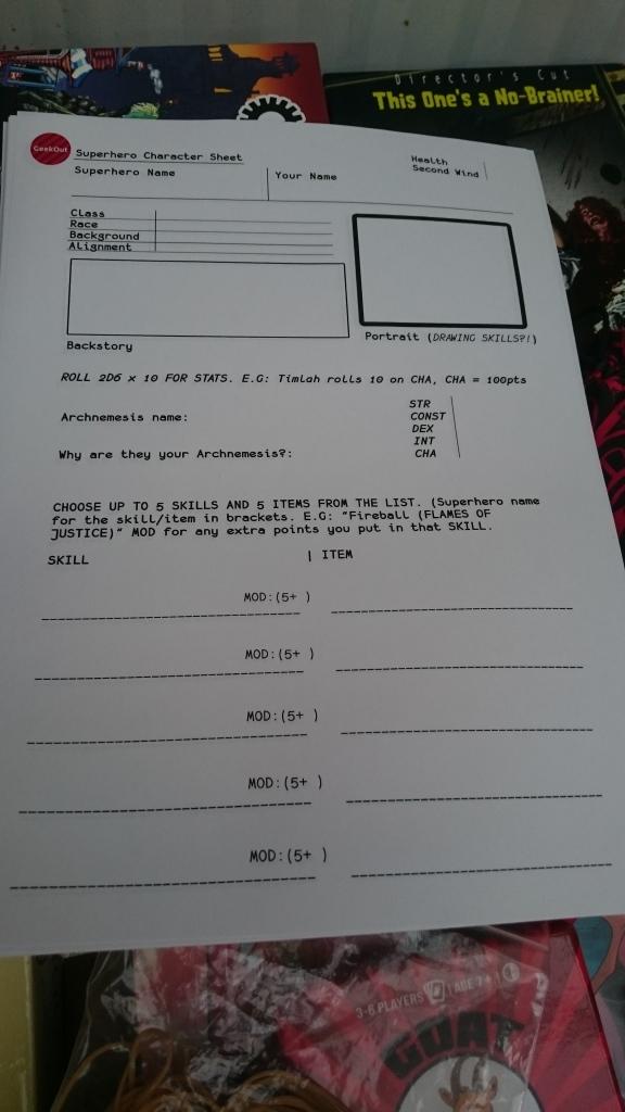 Our very own Superhero RPG Sheet