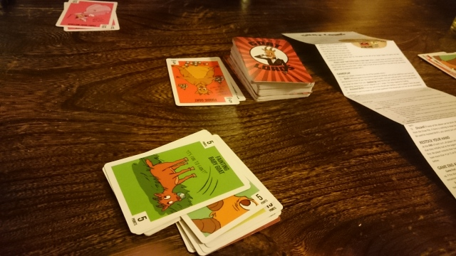 A really fun game we picked up from Kickstarter: Goat Lord! Had us giggling!
