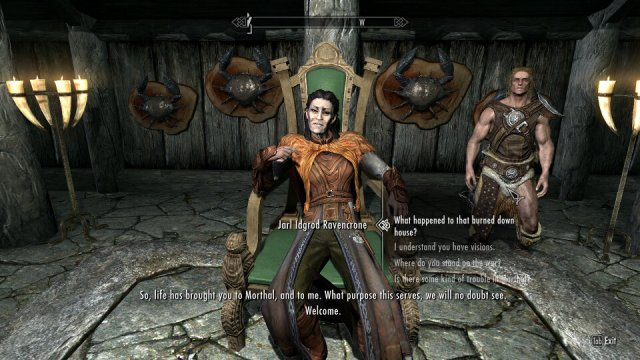 This Jarl was having a bit of vampire trouble...