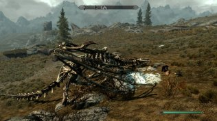 skyrim dead dragon