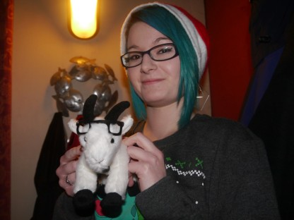 Wait, is that Gordon the GeekOut Goat?!