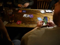 Red Seven - A fun looking card game was brought in.