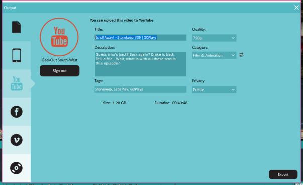 YouTube Upload From Filmora