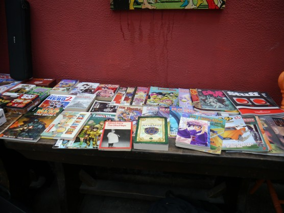 Our Book share pile looked pretty!