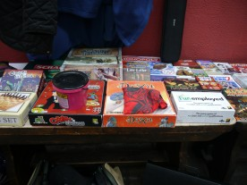 Our games table was well stocked!
