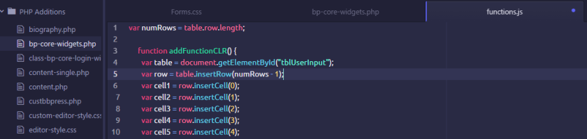 JavaScript in an example on ATOM.