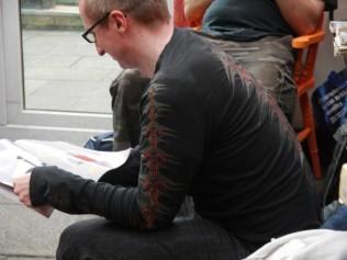 Jon focusing on something!