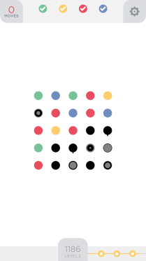 Clean presentation makes Two Dots a stylish and simple game