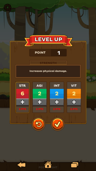 Level up and put your points in stats