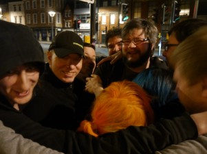 GeekOut Bristol is becoming famous for the after GeekOut Group Hug.