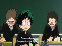 My Hero Academia Ep 1 Class Laughs At Deku