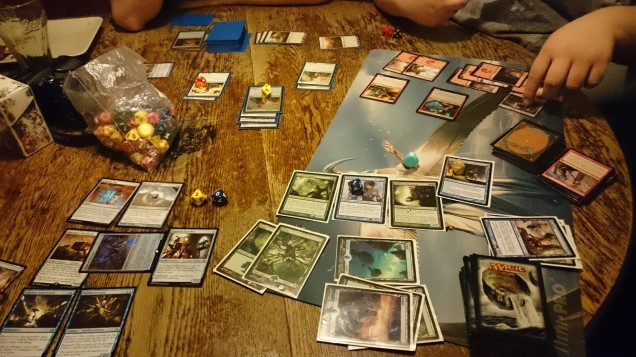 A massive game of Magic: the Gathering - Lots was played this night!