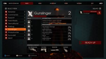 One of the two new perks, the Gunslinger.