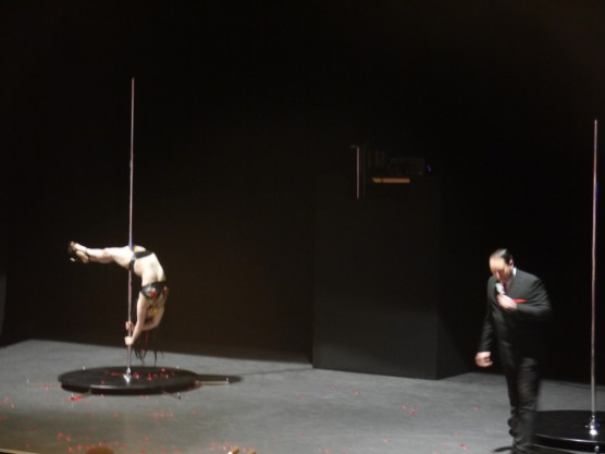 These pole dancers were out of this world!