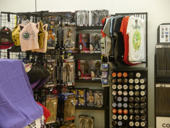 Merch in the games room