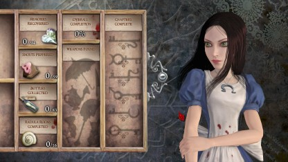 Alice's menu screen features our titular hero