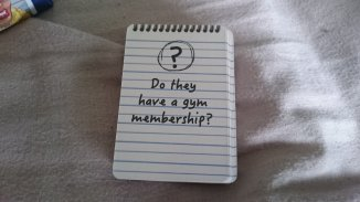 One of the question cards