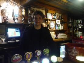 Edward Cullen behind the bar!
