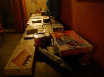 By the night time, loads of games were taken for use! Nearly all of them, in fact.