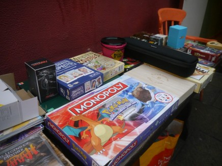 Our pile of board games looked great this month!