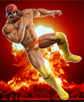 The destructive force of the Diabolic Trio, Randy, the Savage!