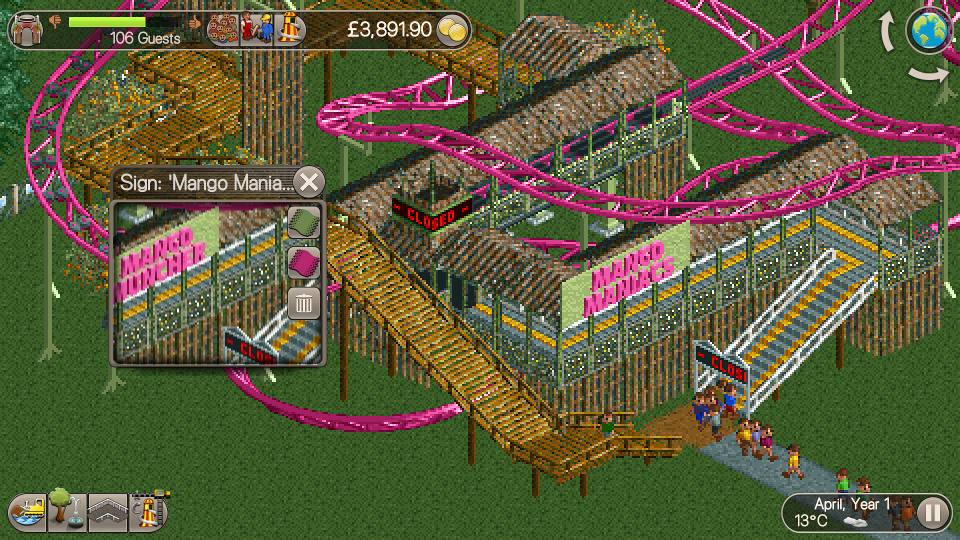 Video Game Review: Roller Coaster Tycoon Classic   GeekOut UK