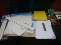 Our sword and shield blanks, along with card, a ruler and much more.