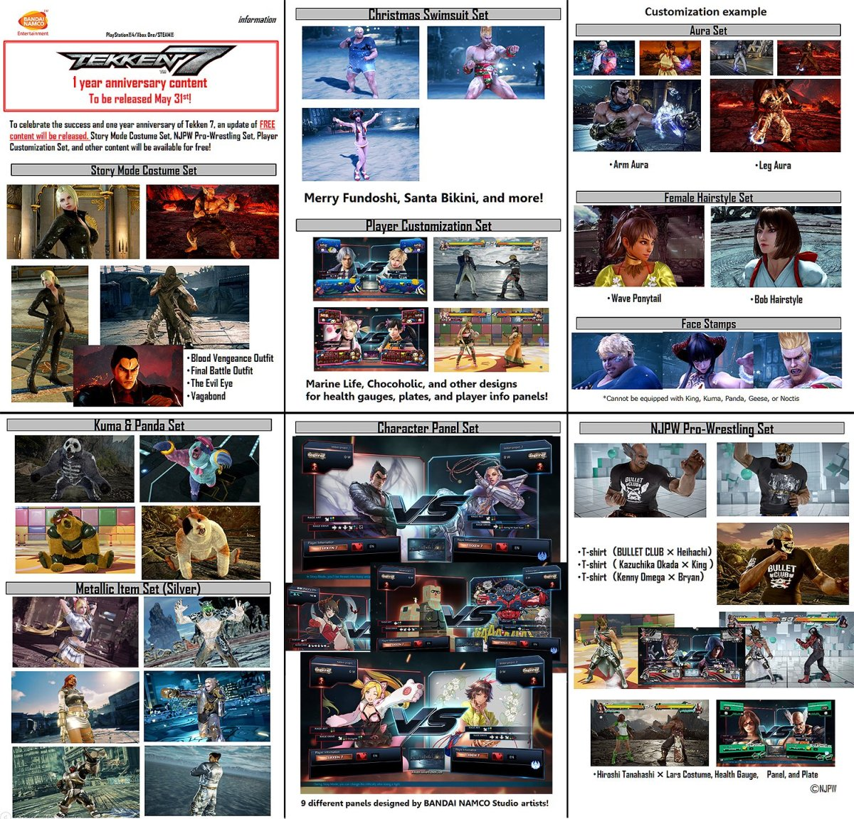 Tekken 7 Anniversary Update: May 31st 2018 (and World Tour Global Finals)