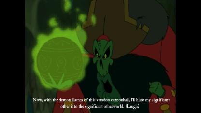 A convenient voodoo cannonball!